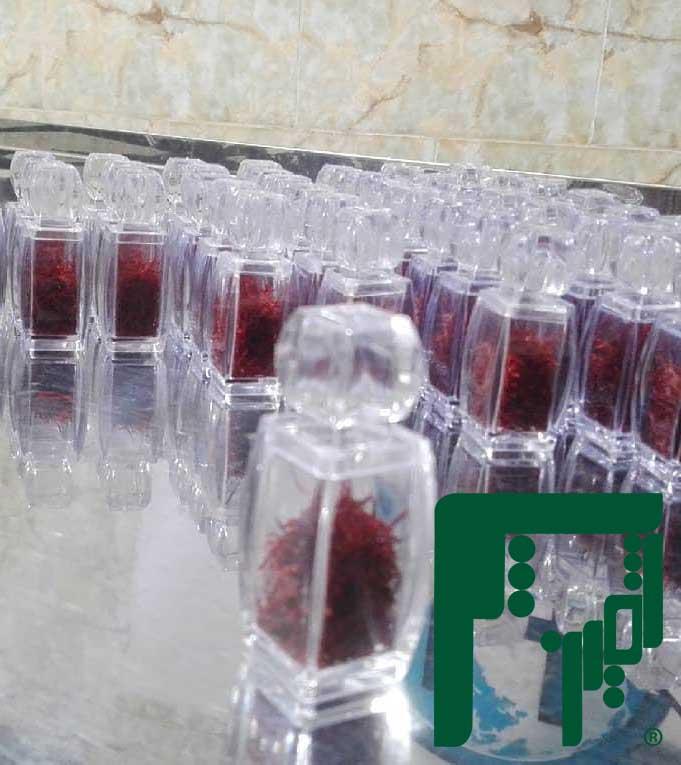 ظروف کریستالی بسته بندی زعفران