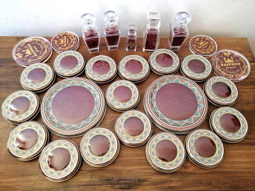 انواع ظرف بسته بندی زعفران